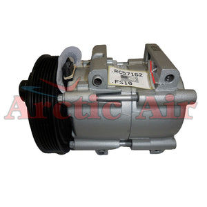 57162 A/C compressor with clutch for 2000-2002 Ford Focus (front view)