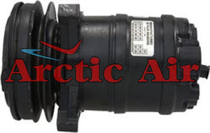 57257 AC compressor for 1987 Buick Skyhawk and 1988 Pontiac Sunbird (front view)