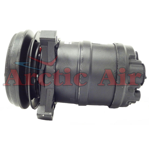 57261 AC compressor for 1983-1989 Buick Skyhawk, Chevy Cavalier, and Pontiac Grand Am (front view)