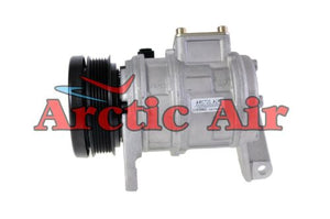 57378 AC Compressor for 1996-2000 Chrysler Town & Country/(Grand) Voyager and Dodge (Grand) Caravan (front view)