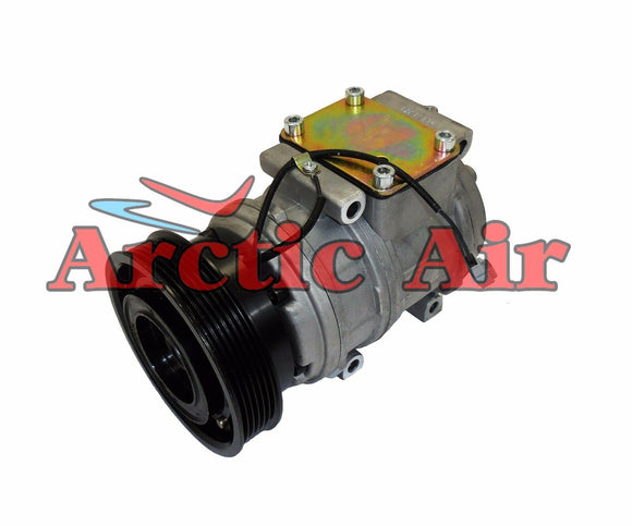 57399 AC Compressor for 1992-1993 Lexus ES300 and Toyota Camry (front view)