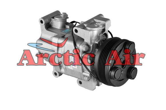57463 AC Compressor for 2004-2009 Mazda 3/Sport and 2006-2010 Mazda 5 (front view)