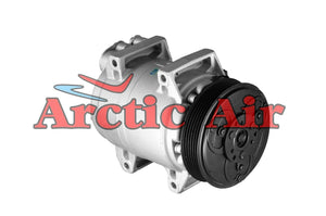 57544 AC Compressor for 2001-2009 Volvo S60/S80 and V70/XC70 (front view)