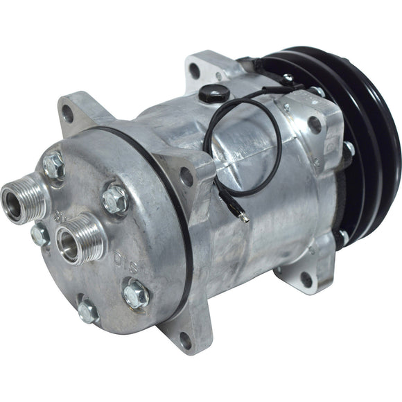 57548 AC Compressor for Ford New Holland Tractor and Case IH Combine (back view)
