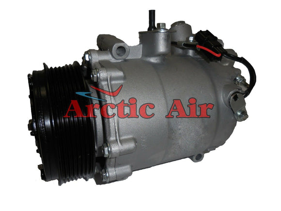 57889 AC Compressor with Clutch for 2009-2014 Acura TSX 2.4L (front view)