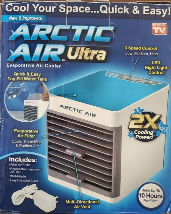 Arctic Air Ultra Evaporative Air Cooler with Replacement Filter | As Seen On TV