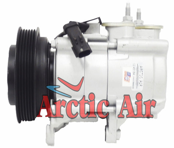67184 AC Compressor for 2007-2008 Dodge Nitro and 2006-2008 Jeep Liberty (front view)