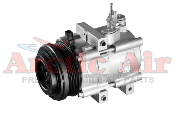 67185 AC Compressor for 2006-2011 Ford Explorer and Mercury Mountaineer (front view)
