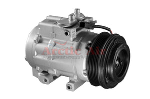 67187 AC Compressor for 2006-2008 Ford Explorer and Mercury Mountaineer models with rear AC (front view)