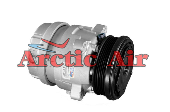 67291 AC Compressor for 1998-2003 Chevrolet S10, GMC Sonoma, and 1998-2000 Hombre (front view)