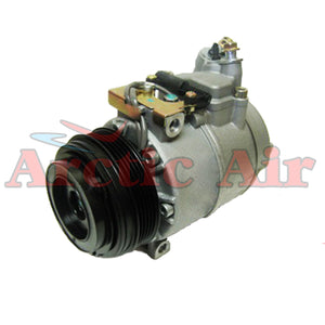 67307 AC Compressor for 1998-2003 BMW 540i, 740iL, M5, and Z8 (front view)