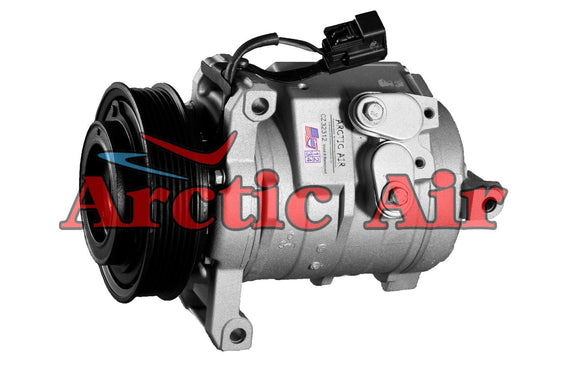 67344 AC Compressor for 2003-2004 Cadillac CTS 3.2L (front view)