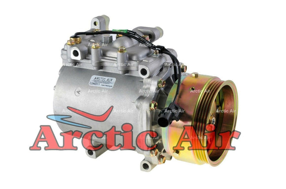 67489 AC Compressor for 1994-1998 Chrysler Sebring and Mitsubishi Eclipse/Galant (front view)