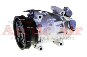 67575 AC Compressor with Clutch for 1998-2002 Mazda 626 (front view)