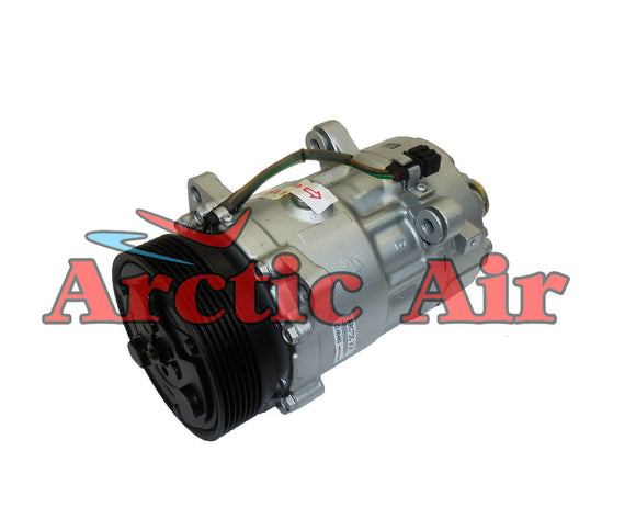 7512145 AC Compressor with Clutch for 2001-2003 Volkswagen EuroVan (front view)