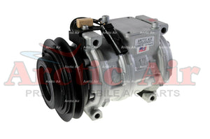 77305 AC Compressor for 1996-2000 Chrysler/Plymouth (Grand) Voyager and Dodge (Grand) Caravan (front view)