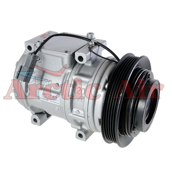 77328 AC Compressor for 1991-1995 Acura Legend, 1996-1998 Acura TL, and 1996-2004 Acura RL (front view)