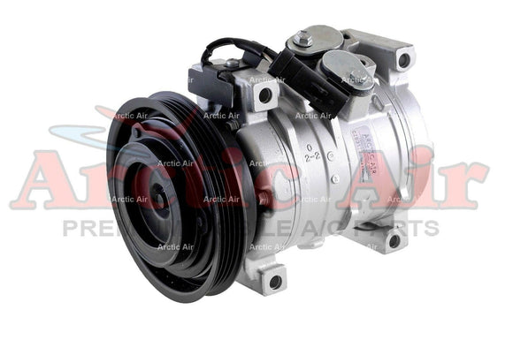 77387 AC Compressor for 2003-2005 Chrysler PT Cruiser and 2001-2009 Dodge Neon (front view)