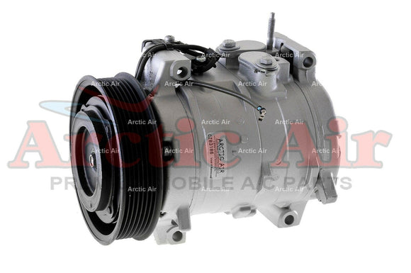 77389 AC Compressor with Clutch for 2003-2007 Honda Accord 2.4L (front view)