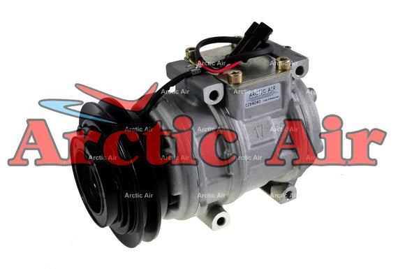 77393 AC Compressor for 1996-1997 Lexus LX450 and 1993-1997 Toyota Land Cruiser (front view)