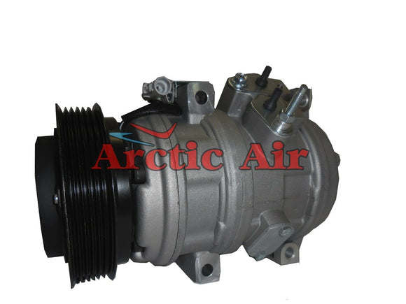 77395 AC Compressor for 2000-2006 Toyota Tundra 4.7L Engine (front view)