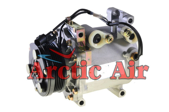 77483 AC Compressor for 1998-2007 Chrysler Sebring, Dodge Stratus, and Mitsubishi Eclipse (front view)