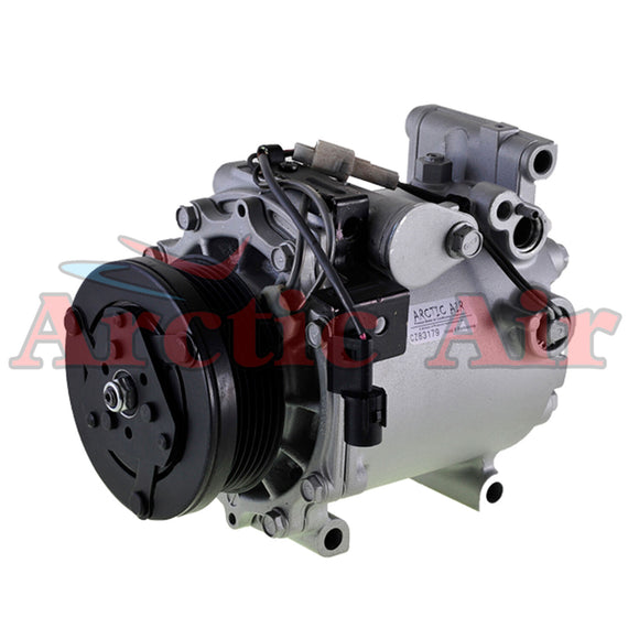 77493 AC Compressor for 2004-2012 Mitsubishi Eclipse/Endeavor/Galant (front view)