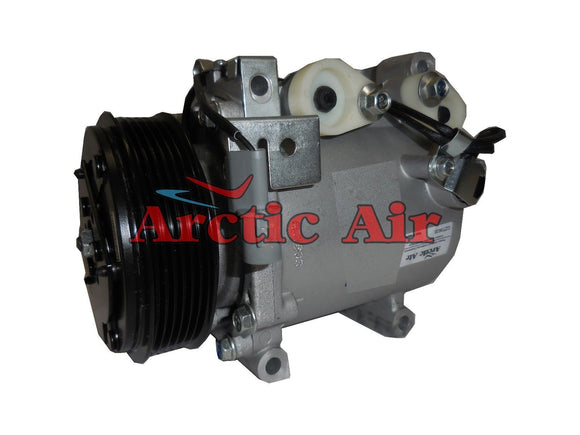 77494 AC Compressor for 2006 Mitsubishi Lancer and 2003 Mitsubishi Outlander (front view)