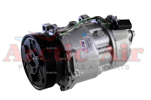77554 AC Compressor for 1998-2006 Audi TT/Quattro and VW Beetle/Golf/Jetta (front view)
