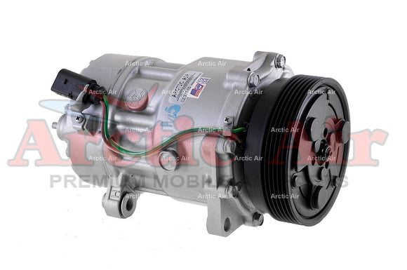 AC Compressor for 1998-2006 Audi TT/Quattro and VW Beetle/Golf/Jetta side view