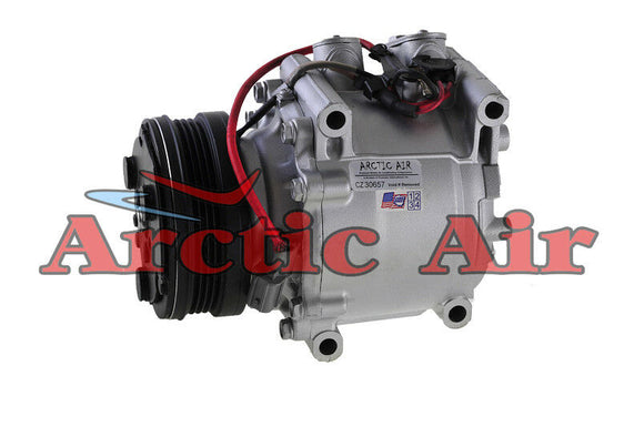77560 AC Compressor for 1994-2001 Honda Civic/Civic del Sol and CR-V (front view)