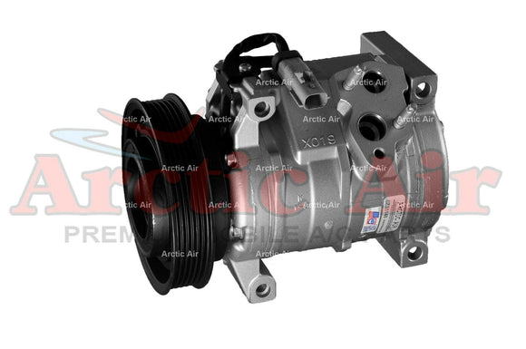 97355 AC Compressor with Clutch for 2005-2008 Chrysler Pacifica 3.8L (front view)