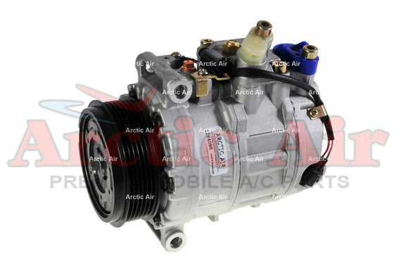 97356 AC Compressor for 2001-2014 Mercedes-Benz C/E/G/M/R/S class models (front view)
