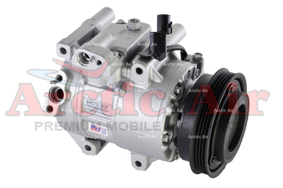 97371 AC Compressor with Clutch for 2006-2011 Kia Rio/Rio5 1.6L engine (front view)