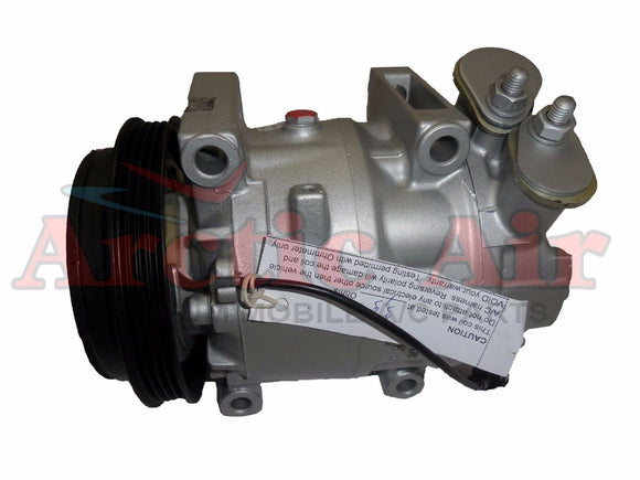 97374 AC Compressor for 2005-2009 Hyundai Tucson and Kia Sportage (front view)