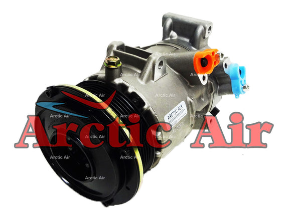 97386 AC Compressor for 2006-2008 Toyota RAV4 and 2007-2009 Toyota Camry (front view)