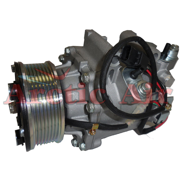97555 AC Compressor with Clutch for 2006-2011 Honda Civic 1.8L (front view)