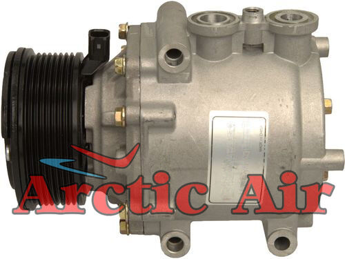 97564 AC Compressor for 2004-2007 Ford E-350 Club Wagon/Super Duty and E-450 Super Duty (front view)