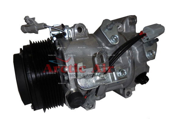 98363 AC Compressor for 2005-2012 Toyota Avalon and 2007-2011 Toyota Camry (front view)