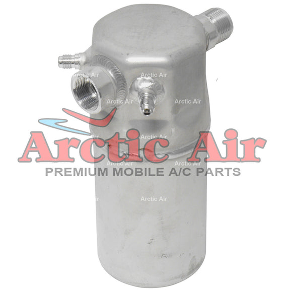 33197 A/C Accumulator for 89-91 Audi 100/200 and 1985 LeSabre, Olds 98, and Volvo 745 front view