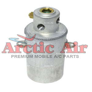 33376 A/C Drier for 92-99 Mercedes-Benz 300SD, CL500, CL600, S420, S500, and S600 front view