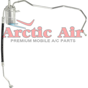 83128 AC Drier with Hose Assembly for 01-06 Chrysler Sebring and Dodge Stratus front view