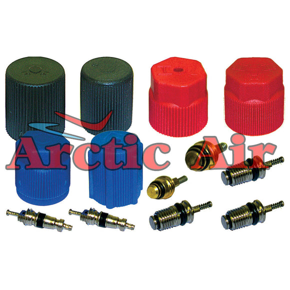 MT2906 AC Cap & Valve Kit for 1994-2010 Ford Lincoln Mazda and Mercury Vehicles