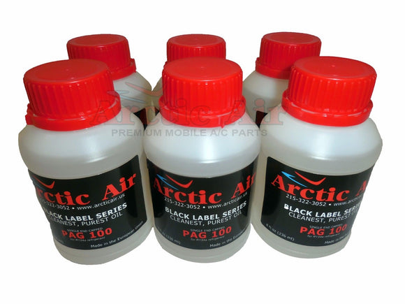 6 8oz bottles of A/C Compressor PAG Oil 100 for R-134a