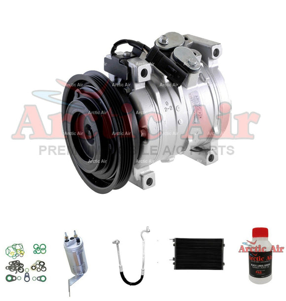 77387 A/C Compressor Kit with Condenser for 2001 Chrysler PT Cruiser 2.4L