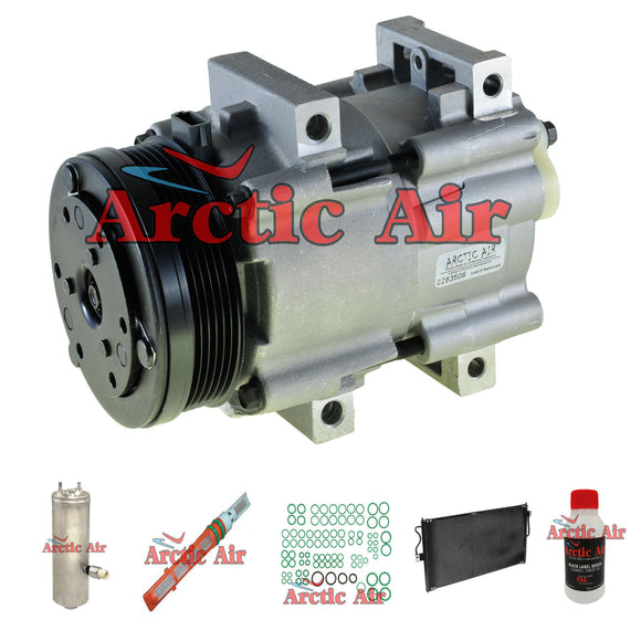 57157 A/C Compressor Kit with Condenser Fits 2005 Ford Freestar 3.9L w/o Rear AC