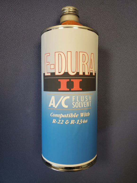 1 Quart E-Dura II A/C Flush Solvent | Compatible with R-22 & R-134A Systems