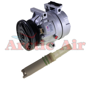 57992 New A/C Compressor with Orifice Tube Fits 2002-2003 Chevrolet Monte Carlo 3.4L