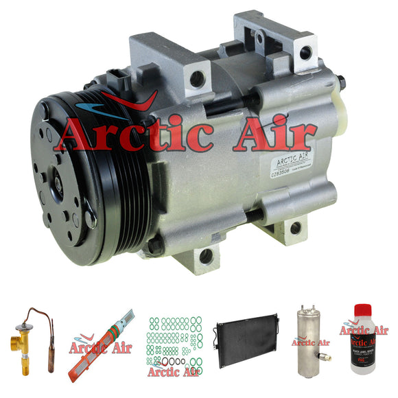 57157 A/C Compressor Kit with Condenser fits 2005 Ford Freestar 3.9L w/ Rear A/C