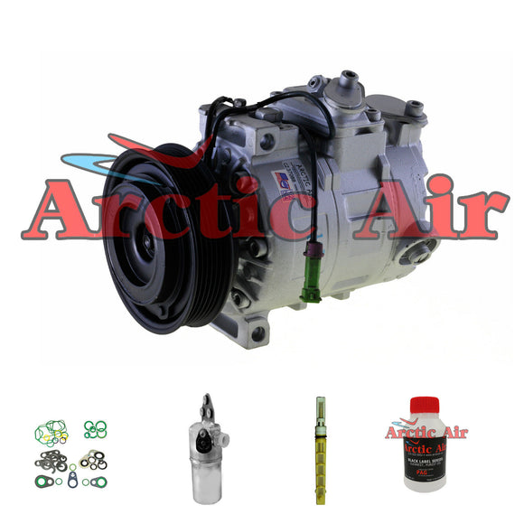 77313 New A/C Compressor Kit for 02-04 Audi A6 Quattro 01-05 Allroad Quattro 2.7L